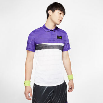 Nike Court Advantage polo Heren Paars