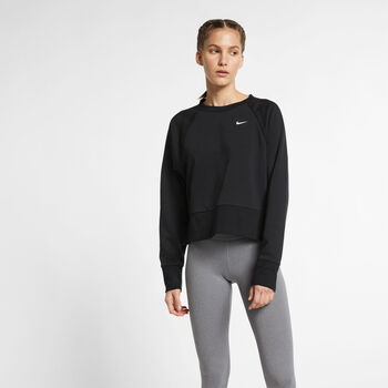 Nike Dri-FIT sweater Dames Zwart