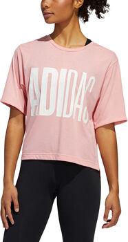 ADIDAS Badge of Sport shirt Dames Rood
