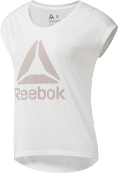 Reebok Workout Ready Supremium 2.0 Big Logo shirt Dames Neutraal