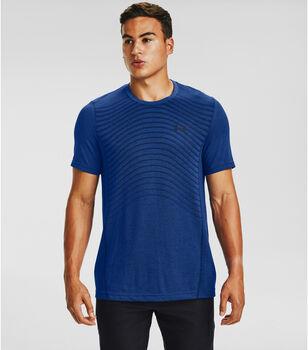 Under Armour Seamless SS Wave shirt Heren Blauw