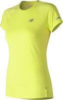 New Balance Ice 2.0 Short Sleeve shirt Dames Geel