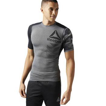 Reebok ActivChill Graphic Compression shirt Heren Grijs