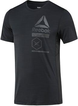 Reebok ActiveChill Zoned Graphic shirt Heren Zwart