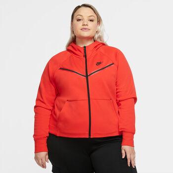 Nike Sportswear Tech Fleece Windrunner hoodie Dames Rood