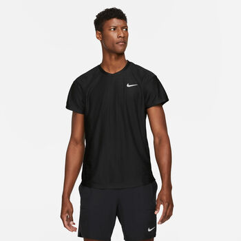 Nike Court Breathe Advantage shirt Heren Zwart