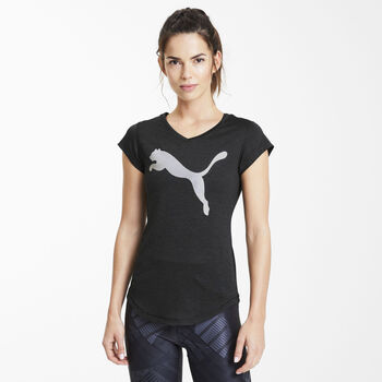 Puma Heather Cat shirt Dames Zwart
