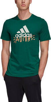 adidas Doodle Basic Badge Of Sport t-shirt Heren Groen