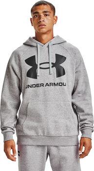Under Armour Rival Fleece Big Logo hoodie Heren Grijs