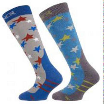 Sinner Ski sokken 2-pack Jongens Blauw