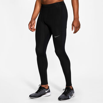 Nike Run Thermal hardlooplegging Heren Zwart