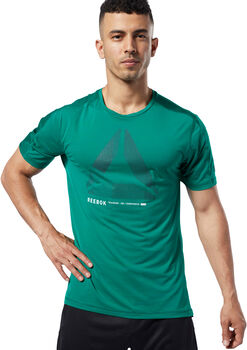 Reebok One Series Training ACTIVCHILL Move T-shirt Heren Groen