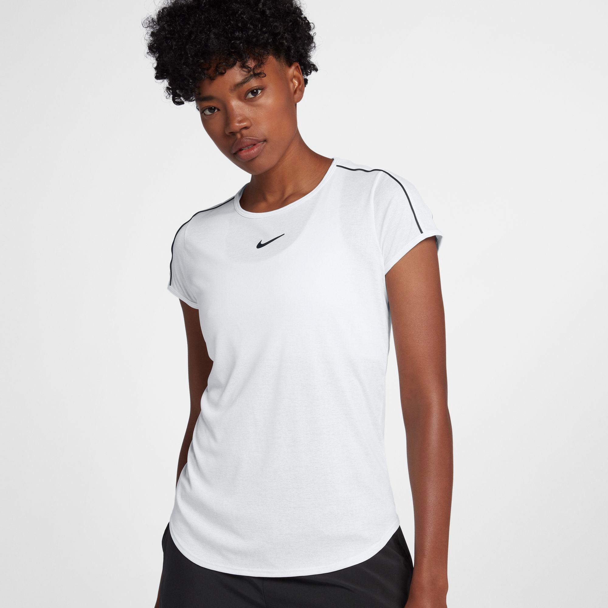 Nike Court Dry shirt Dames Wit » Intersport.nl