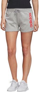 adidas Essentials Linear Logo short Dames Grijs