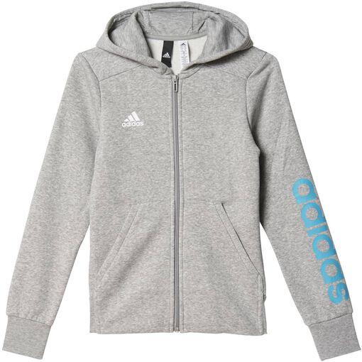 Adidas - Essentials Mid jr hoodie - Unisex - Sweaters - Grijs - 140