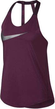 Nike Breathe top Dames Rood