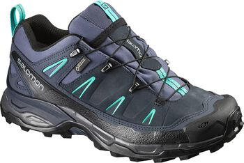 Salomon X-Ultra Leather GTX wandelschoenen Dames Blauw