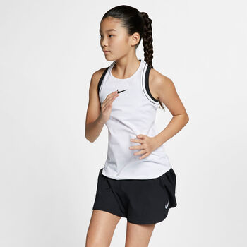 Nike Court Dry top Meisjes Wit