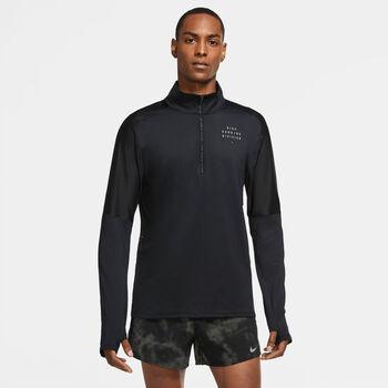 Nike Element Run Division top Heren Zwart