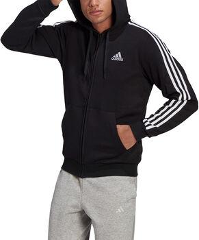 adidas Essentials Fleece 3-Stripes Ritshoodie Heren Zwart