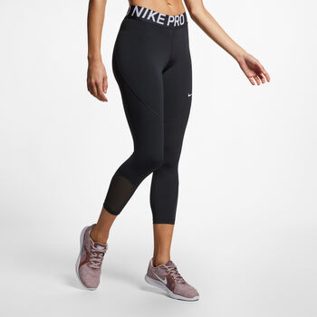 Nike Pro Cropped tight Dames Zwart