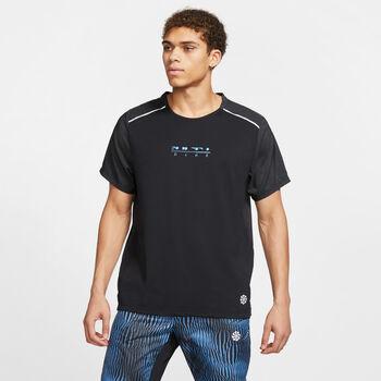 Nike Rise 365 Runningshirt Heren Zwart
