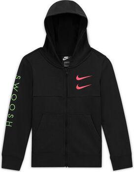 Nike Sportswear Swoosh hoodie kids Jongens Zwart