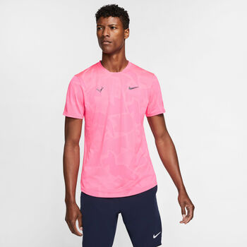 Nike Court AeroReact Rafa Shirt Heren Rood