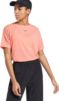 Reebok Workout Ready Supremium T-Shirt Dames Roze