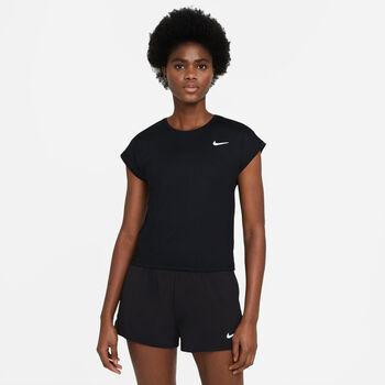 NikeCourt Victory shirt Dames Zwart