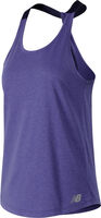 New Balance Heather Tech Tank top Dames Blauw