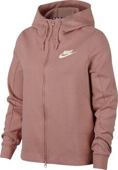 Nike Sportswear Optic Fleece hoodie Dames Rood