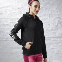 Reebok Workout Zip Hoodie Dames Zwart