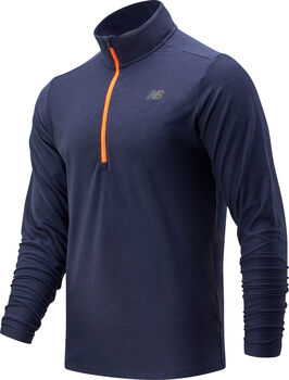 New Balance Core Space Dye Quarter Long Sleeve shirt Heren Multicolor