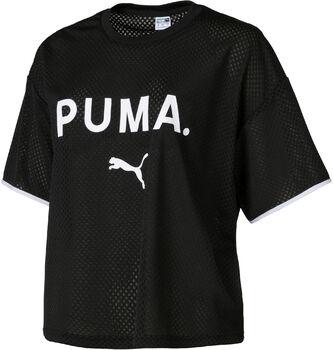 Puma Chase Mesh shirt Dames Zwart