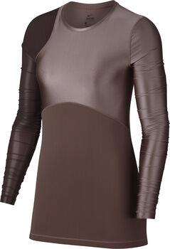 Nike Pro HyperCool Fall Glamour longsleeve Dames Bruin