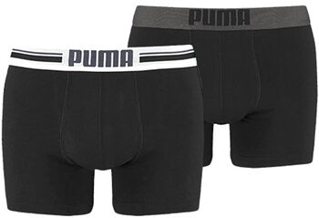 Puma Placed Logo boxer (2 paar) Heren Zwart