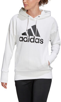 ADIDAS Badge of Sport Long Hoodie Dames Wit