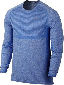 Nike Dri-FIT Knit Running longsleeve Heren Blauw