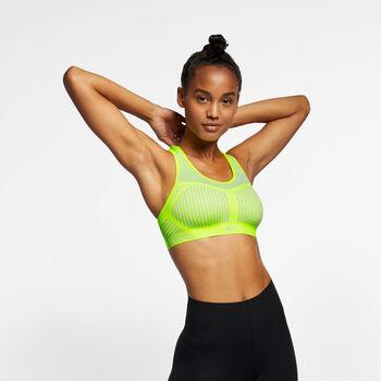 Nike Fe/Nom Flyknit sportbeha Dames Geel