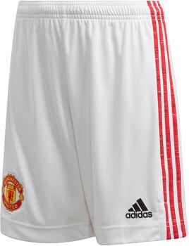 adidas Manchester United thuisshort 2020/2021 kids Jongens Wit