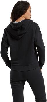 Reebok Textured Logo Fullzip hoodie Dames Zwart
