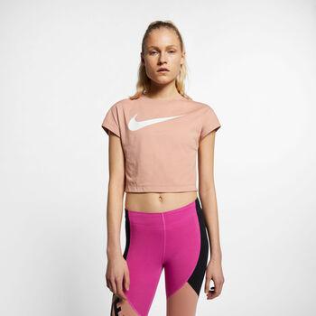 Nike Sportswear Swoosh Crop top Dames Roze