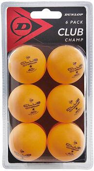 Dunlop 40+ Club Champ X6 tafeltennisballen Oranje