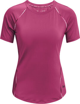 Under Armour Rush Scallop t-shirt Dames Roze