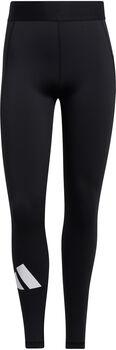 adidas Techfit Life Mid-Rise Badge of Sport Lange Legging Dames Zwart