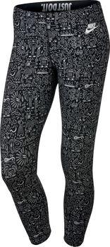 Nike Leg-A-See Cropped AOP Dames Zwart