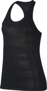 Nike Pro Metallic Dots top Dames Zwart