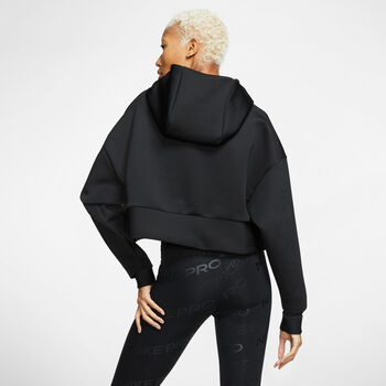 Nike Pro Fleece hoodie Dames Zwart
