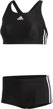 adidas Essence Core 3-Stripes bikini Dames Zwart